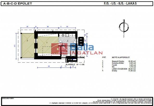 Bicske - Csákvári utca:  28 m²-es társasházi lakás   (21'500'000 ,- Ft)