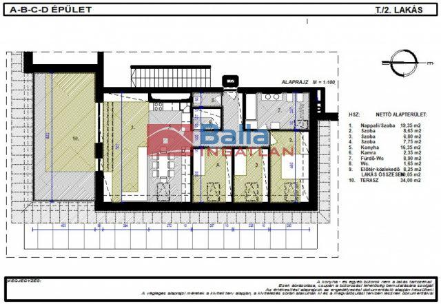 Bicske - Csákvári utca:  80 m²-es társasházi lakás   (42'973'740 ,- Ft)