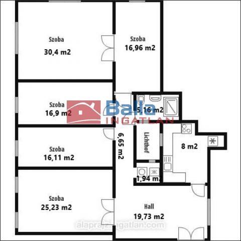 V. Kerület (Lipótváros) - Báthory utca:  138 m²-es társasházi lakás   (159'000'000 ,- Ft)