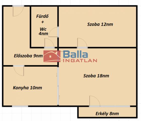 Sopron - Lővérek utca:  53 m²-es társasházi lakás   (30'900'000 ,- Ft)