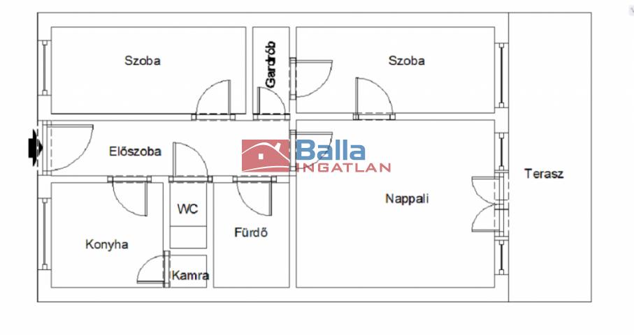 XIX. Kerület (Lakótelep) - Központi utca:  57 m²-es társasházi lakás   (28'500'000 ,- Ft)