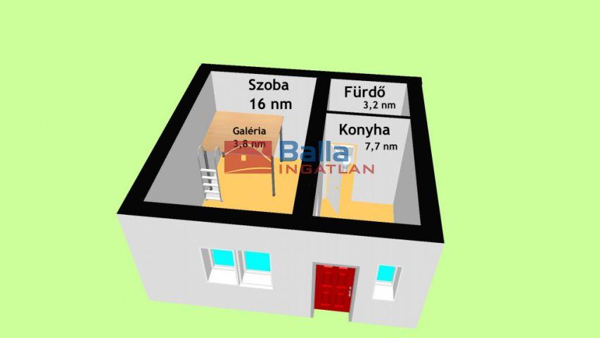 XX. Kerület (Erzsébetfalva) - Gólya utca:  27 m²-es társasházi lakás   (12'900'000 ,- Ft)