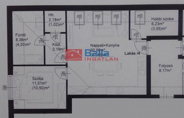 Fertőszentmiklós - Fertőszentmiklós utca:  62 m²-es társasházi lakás   (32'277'500 ,- Ft)