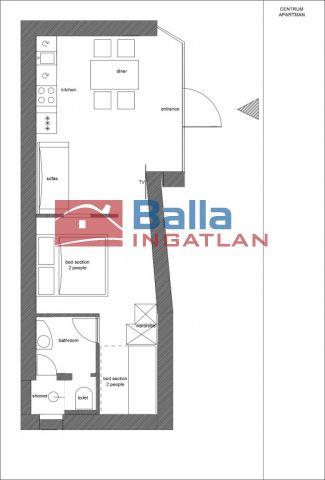 Siófok (Városközpont) - Belvárosi utca:  41 m²-es társasházi lakás   (150'000 ,- Ft)